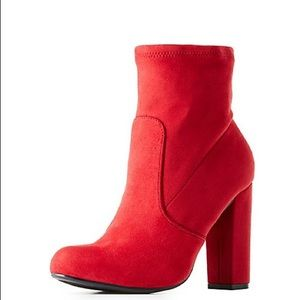 Shoes - Red Bootie | MAKE A OFFER